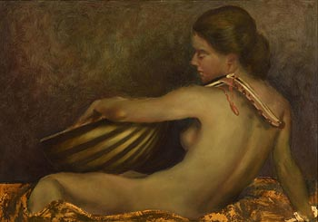 Ken Hamilton, Girl with Musical Instrument at Morgan O'Driscoll Art Auctions