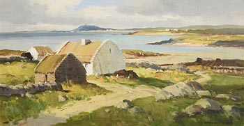 Maurice Canning Wilks, Galway Cottages, Connemara at Morgan O'Driscoll Art Auctions