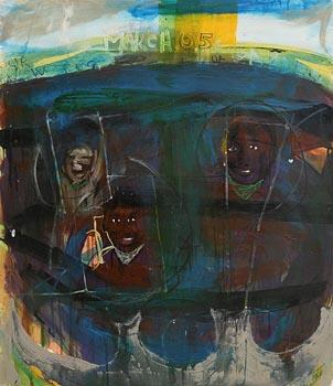 Brian Maguire, Direct Provision (2005) at Morgan O'Driscoll Art Auctions