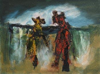 Gerald Davis, Two Figures (1983) at Morgan O'Driscoll Art Auctions