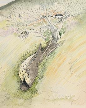 Pauline Bewick, Bird Under the Tree (1978) at Morgan O'Driscoll Art Auctions