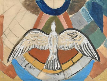 Evie Hone, Study for Stained Glass Window at Morgan O'Driscoll Art Auctions