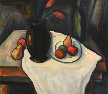 Peter Collis, Still Life on a White Table Cloth at Morgan O'Driscoll Art Auctions