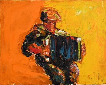 John Brian Vallely, Accordion Player at Morgan O'Driscoll Art Auctions