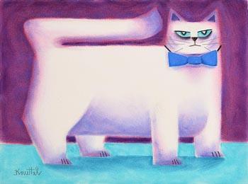 Graham Knuttel, Blue Eyed Cat at Morgan O'Driscoll Art Auctions