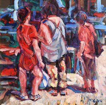Arthur K. Maderson, The Saturday Market at Morgan O'Driscoll Art Auctions