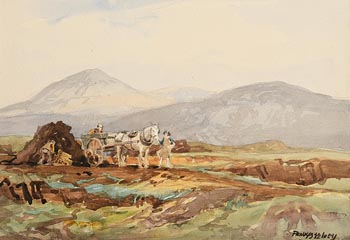 Frank McKelvey, Turf Cutters at Morgan O'Driscoll Art Auctions