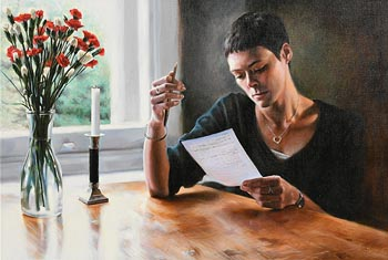 Tina Spratt, Writing a Letter at Morgan O'Driscoll Art Auctions