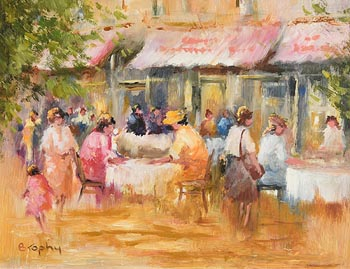 Elizabeth Brophy, The Restaurant at Morgan O'Driscoll Art Auctions
