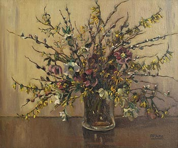Ann Primrose Jury, Flowers in a Glass Vase at Morgan O'Driscoll Art Auctions