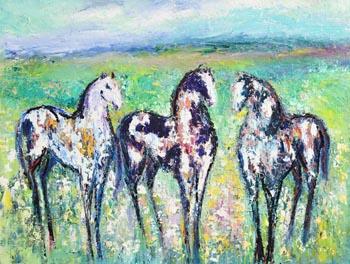 Declan O'Connor, The Meadow, Connemara at Morgan O'Driscoll Art Auctions