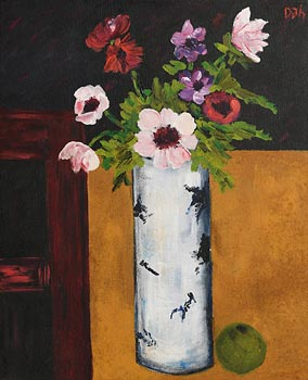 David Gordon Hughes, Flowers in a White Vase at Morgan O'Driscoll Art Auctions