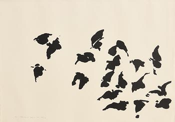 Louis Le Brocquy, A Flock of Birds (1969) at Morgan O'Driscoll Art Auctions