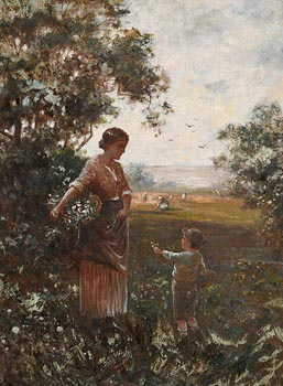 Eugene Joseph McSwiney, Picking Wild Flowers with Mum at Morgan O'Driscoll Art Auctions