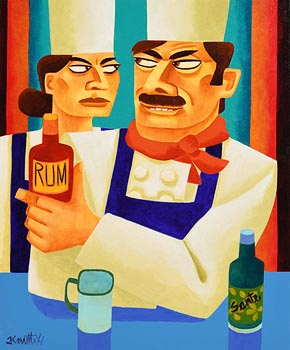 Graham Knuttel, The Merry Chef at Morgan O'Driscoll Art Auctions