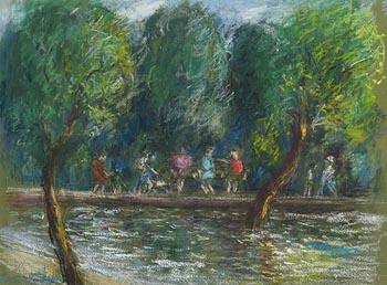 Kieran McGoran, Children in the Park at Morgan O'Driscoll Art Auctions
