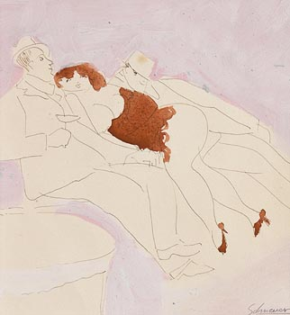 David Schneuer, Paris Night Life at Morgan O'Driscoll Art Auctions