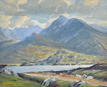 Sean O'Connor, Lough Acoose, Glencar Valley, Co. Kerry (1951) at Morgan O'Driscoll Art Auctions