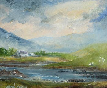 Carmel Mooney, Cottage by the Lake, Connemara at Morgan O'Driscoll Art Auctions