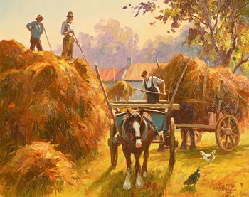 Donal McNaughton, Harvest Time at Morgan O'Driscoll Art Auctions