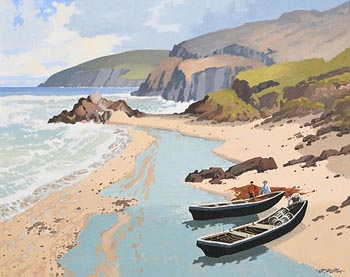 John Francis Skelton, Atlantic Inlet and Slea Head at Morgan O'Driscoll Art Auctions