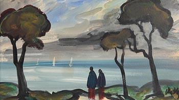 Markey Robinson, Shawlies on the Shore at Morgan O'Driscoll Art Auctions