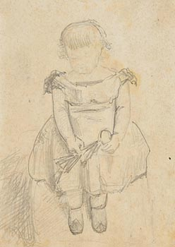 John Butler Yeats, Girl Playing with Doll (1868) at Morgan O'Driscoll Art Auctions