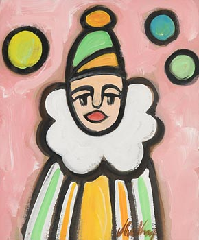 Markey Robinson, Clown at Morgan O'Driscoll Art Auctions
