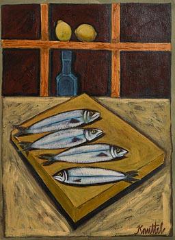 Graham Knuttel, Still Life with Fish at Morgan O'Driscoll Art Auctions