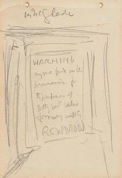 Jack Butler Yeats, Warning at Morgan O'Driscoll Art Auctions