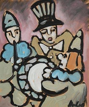 Markey Robinson, Three Musical Clowns at Morgan O'Driscoll Art Auctions