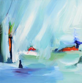 Majella O'Neill Collins, Sherkin Rain Day (2017) at Morgan O'Driscoll Art Auctions