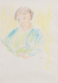 Norah McGuinness, Girl Reading at Morgan O'Driscoll Art Auctions