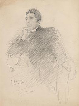 John Butler Yeats, Thomas Arnold Harvey - Rector of Lissadell at Morgan O'Driscoll Art Auctions