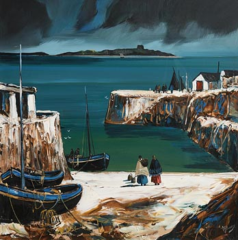 J.P. Rooney, Colimore Harbour, Dalkey at Morgan O'Driscoll Art Auctions