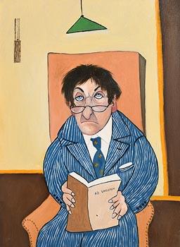 John Schwatschke, Herbert Van Holgen Reading at Morgan O'Driscoll Art Auctions