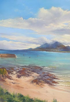 Annemarie Bourke, View to Croagh Patrick from Old Head at Morgan O'Driscoll Art Auctions