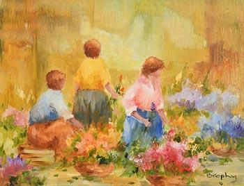 Elizabeth Brophy, Flower Vendors at Morgan O'Driscoll Art Auctions