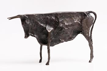 20th Century Irish School, Bull at Morgan O'Driscoll Art Auctions