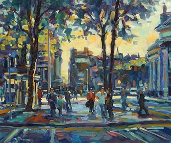 Norman Teeling, College Green at Morgan O'Driscoll Art Auctions