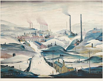 Laurence Stephen Lowry, Industrial Town at Morgan O'Driscoll Art Auctions