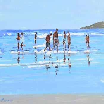 John Morris, Summer, Inch Beach at Morgan O'Driscoll Art Auctions