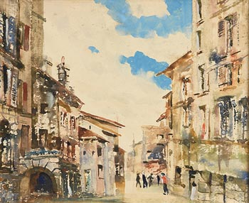 James Le Jeune, Continental Street Scene at Morgan O'Driscoll Art Auctions