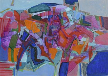 Neville Johnson, Abstract Composition (1991) at Morgan O'Driscoll Art Auctions