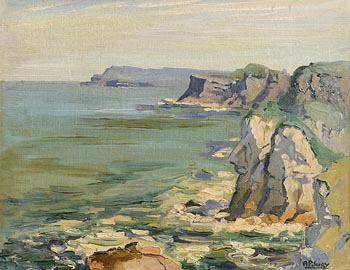 Ann Primrose Jury, The Giants Head, Portrush, Co Antrim at Morgan O'Driscoll Art Auctions