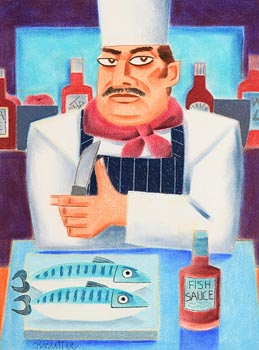 Graham Knuttel, Fish Supper at Morgan O'Driscoll Art Auctions