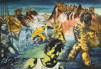 John Doherty, Tuna Fishing, After Salvador Dali (1967/8) at Morgan O'Driscoll Art Auctions