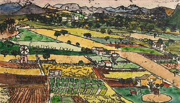 John Copnall, Spanish Village (1955) at Morgan O'Driscoll Art Auctions