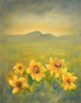 Carmel Mooney, Yellow Flowers at Morgan O'Driscoll Art Auctions