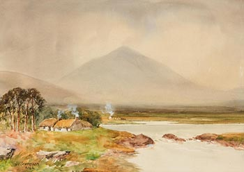 William Bingham McGuinness, Connemara Coastal Cottages at Morgan O'Driscoll Art Auctions